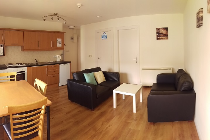 living room at Thomond village student accommodation